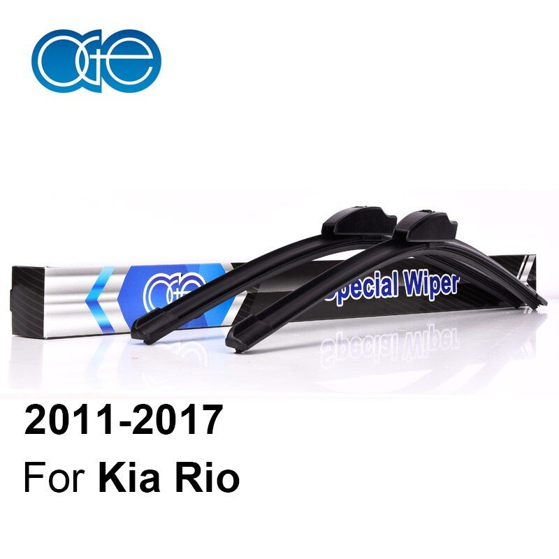 Oge Wiper Blades For Kia Rio 3 k2 UB 2011 2012 2013 2014 2015 2016 2017 Windscreen Windshield Natural Rubber Car Accessories