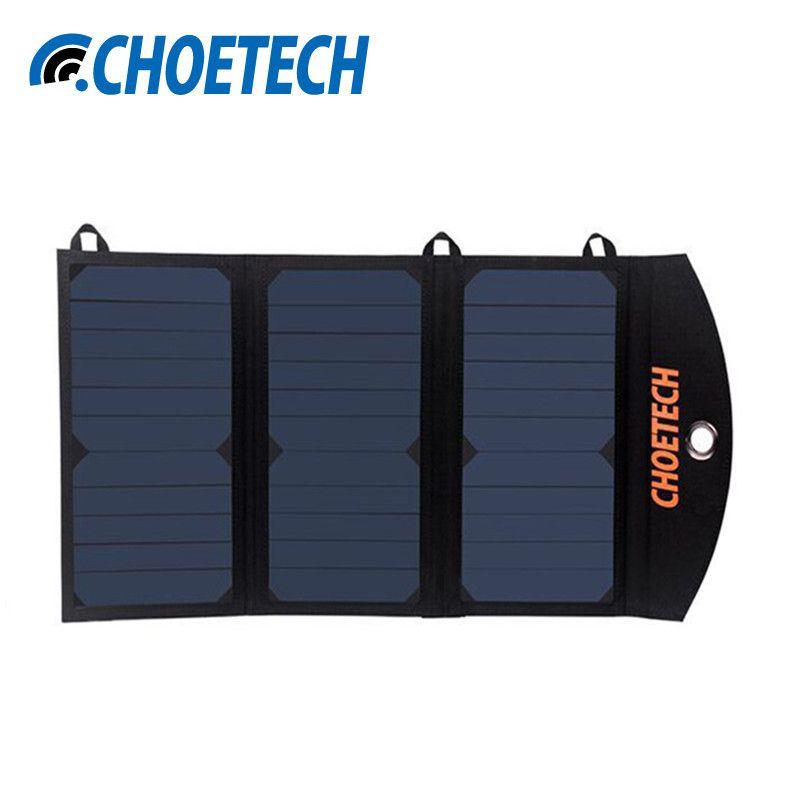 CHOETECH Tragbare Solar-ladegerät mit Dual USB Port und Auto Detect Tech für iPhone 6 S/6 Plus, Galaxy S7/S7 Rand und mehr