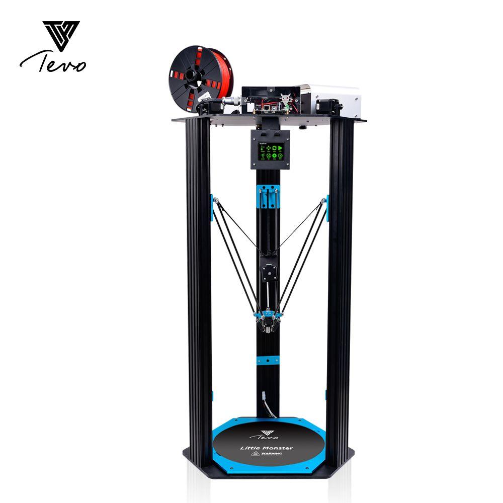 Neueste TEVO Delta Druck Bereich D340xH500mm Extrusion/Smoothieware/MKS TFT28/Bltouch Hohe Geschwindigkeit 3D Drucker kits