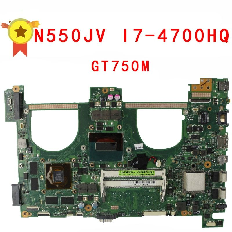 For ASUS G550JK N550JK N550JV G550JV G550J N550J i7-4700HQ CPU PM GT750 2g Video memory Mainboard 100% tested