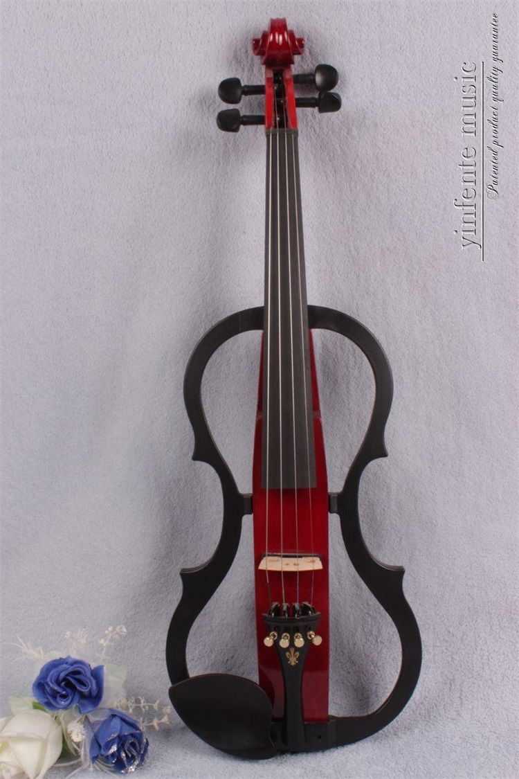 #2680# New 4 string 4/4 Electric violin Solid wood hand add fret electric violin