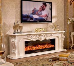 Wohnzimmer dekorieren erwärmung kamin holz kaminsims W200cm elektrische kamin einfügen LED optische künstliche flamme