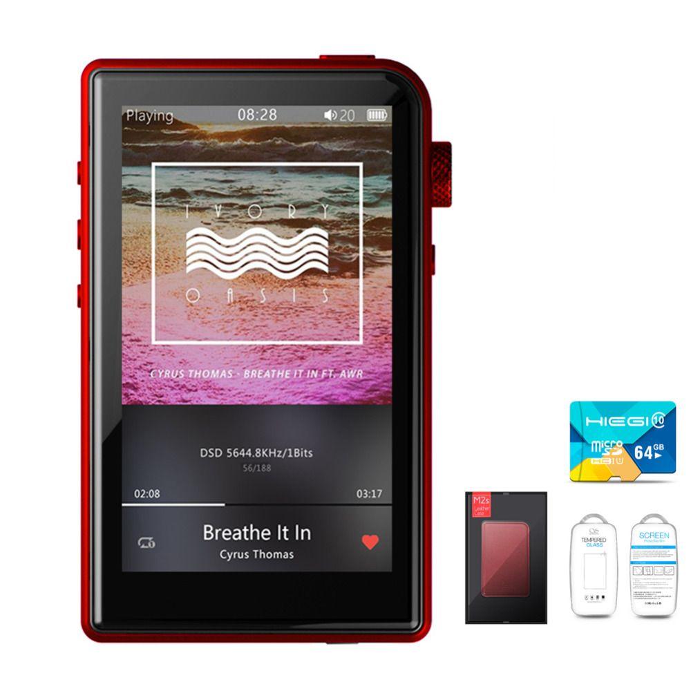Shanling M2s Case +TF Card Retina HIFI Lossless Portable Music MP3 Player Apt-X 4.0 Mini DAP DSD256 AK4490EQ+MUSES8920+TPA6120