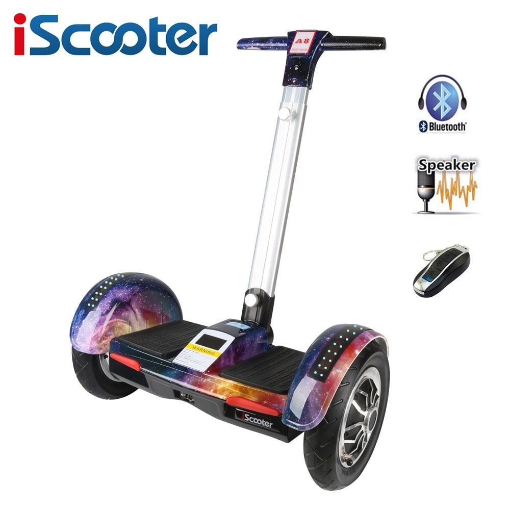 iScooter Hoverboard 10 inch two wheel electric skateboard with Bluetooth and smart self balancing scooter electric hoover board