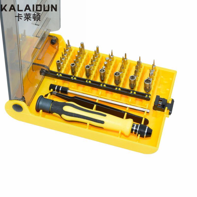 KALAIDUN précision 45 en 1 jeu de tournevis électronique Torx Mini outils à main magnétiques Kit d'ouverture réparation téléphone matériel outil