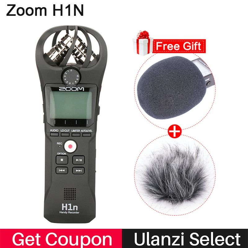 ZOOM H1 H1N Handy Recorder Digital Camera Audio Recorder <font><b>Stereo</b></font> Microphone for Interview SLR Recording Microphone Pen Handy