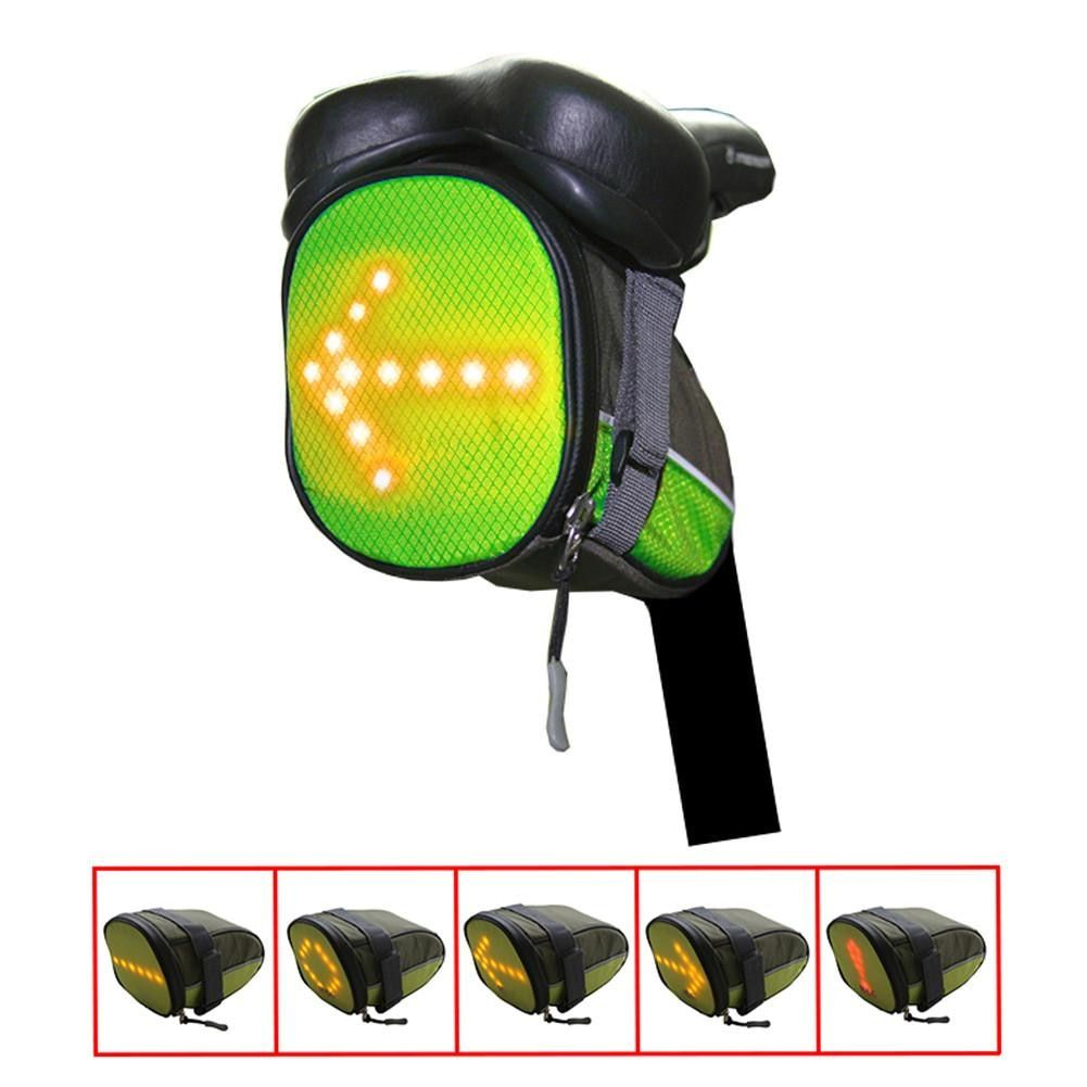 Bicycle Bike <font><b>Tail</b></font> LED Warning Signal Light Bag LED Safety Rear Bags Remote Wireless Control for Night Riding
