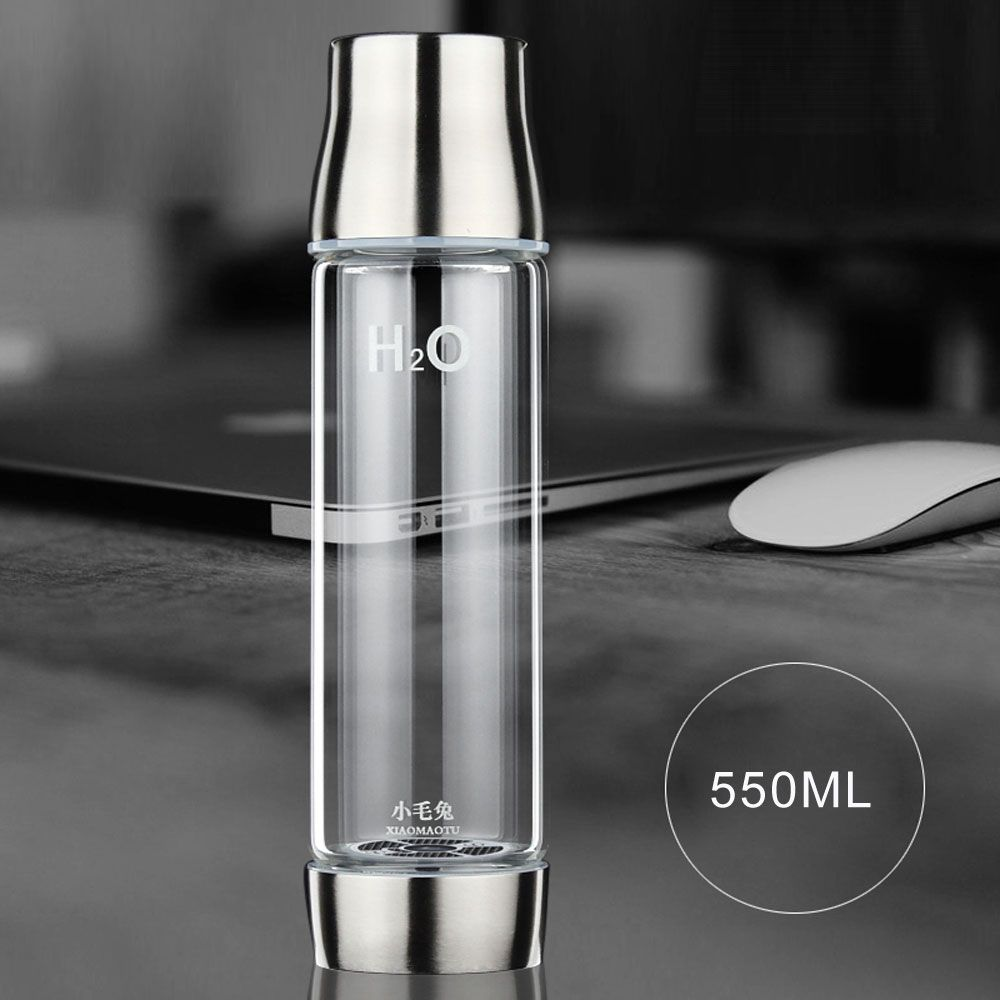XIAOMAOTU 3rd Generation Hydrogen Rich Water Bottle Ionizer Hydrogen Generator Glass Water Bottle USB Rechargeable BPA-free