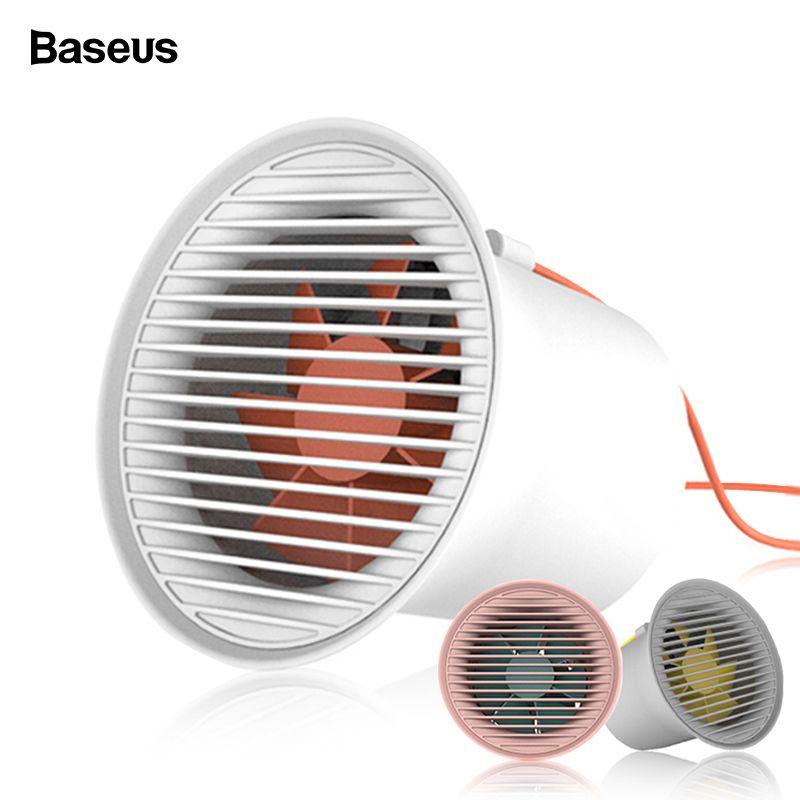 Baseus USB Fan Tragbare Mini Fan 2 Geschwindigkeit Einstellbar Abnehmbare Desktop Persönliche Lüfter USB Ausgang Leise Lüfter Ventilador USB