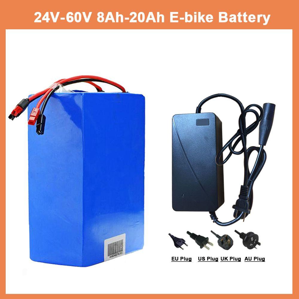 Ue US RU sans taxe 1000 W 24V36V48V batterie eBike 50A BMS batterie au Lithium avec chargeur batterie de vélo électrique pour moteur Bafang