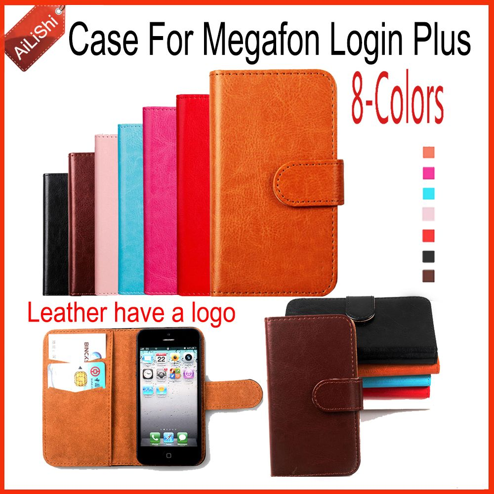 AiLiShi Fashion Leather Case PU Flip For Megafon Login Plus Case New Arrive Wallet Protective Cover Skin 8-Colors In Stock