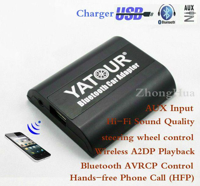 Yatour Bluetooth автомобильный адаптер для Renault Siemens VDO Dayton 8-Pin Глава uni YT-BTA AUX в Hi-Fi A2DP зарядка через USB порт