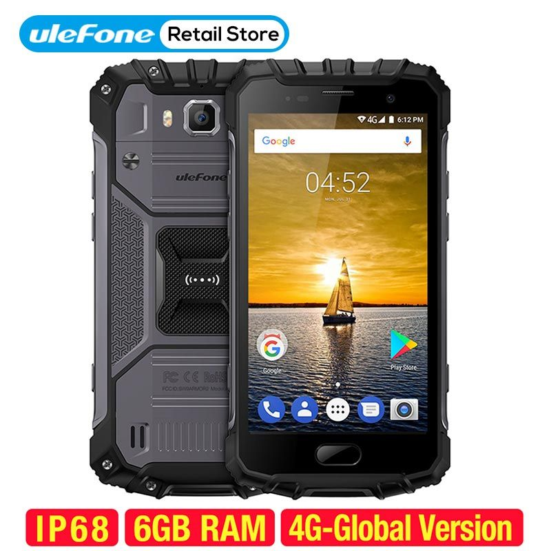 Ulefone Armor 2 Smartphone IP68 Waterproof Android 7.0 5.0