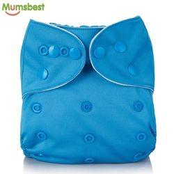 [Mumsbest] Réutilisable Bébé Couches Lavables lavable Solide Couleur Bébé Couche Une Taille Réglable Beaucoup De Couleurs Disponibles Tissu Couches