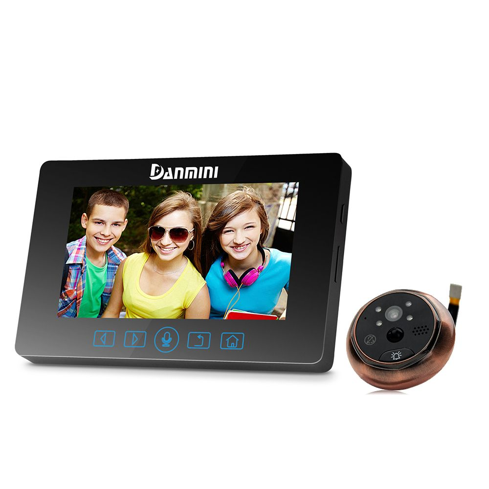 4.3 дюймов 2mp 160 градусов Широкий формат обнаружения движения глазок видео-телефон двери