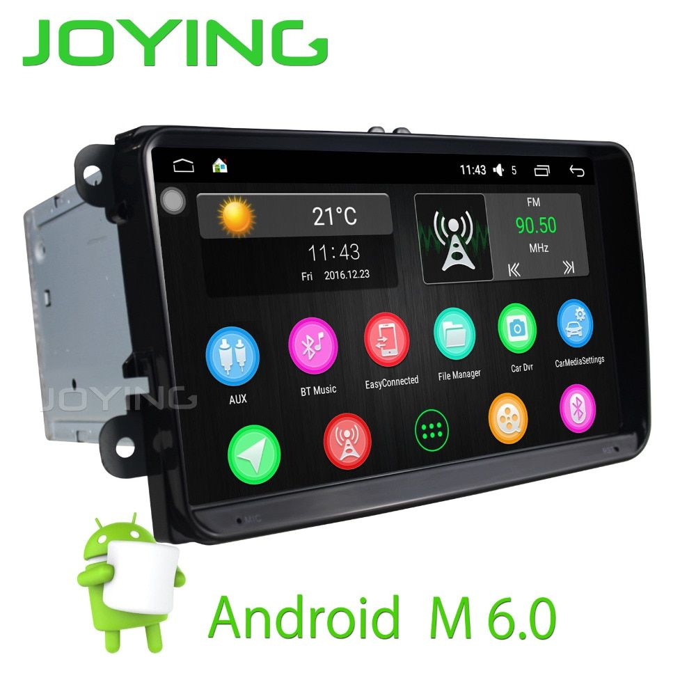 JOYING 9'' touch screen Android 6.0 car radio Audio Stereo for Skoda Octivia Rapid GPS player head unit for VW POLO GOLF PASSAT