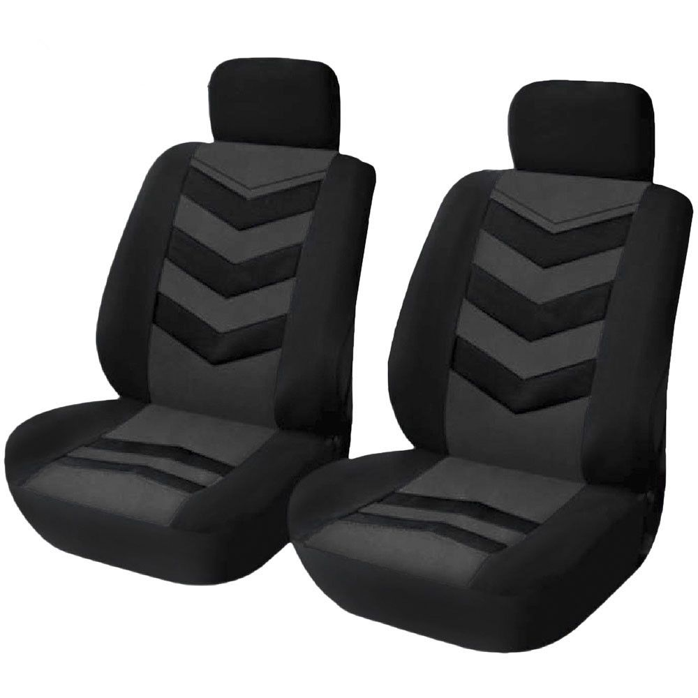 4pcs Black Universal Car Front Seat Covers Interior Protector Complete washable,Breathable fabric,Easy to install