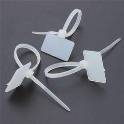 100PCS Nylon Self-Locking Label Tie Network Cable 3*100MM Marker Cord Wire Strap Zip