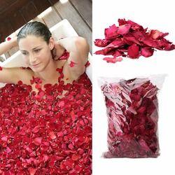 50 g/sac Sec Rose Pétale Naturel Fleur Spa Bain Soulager Parfumé Corps Masseur