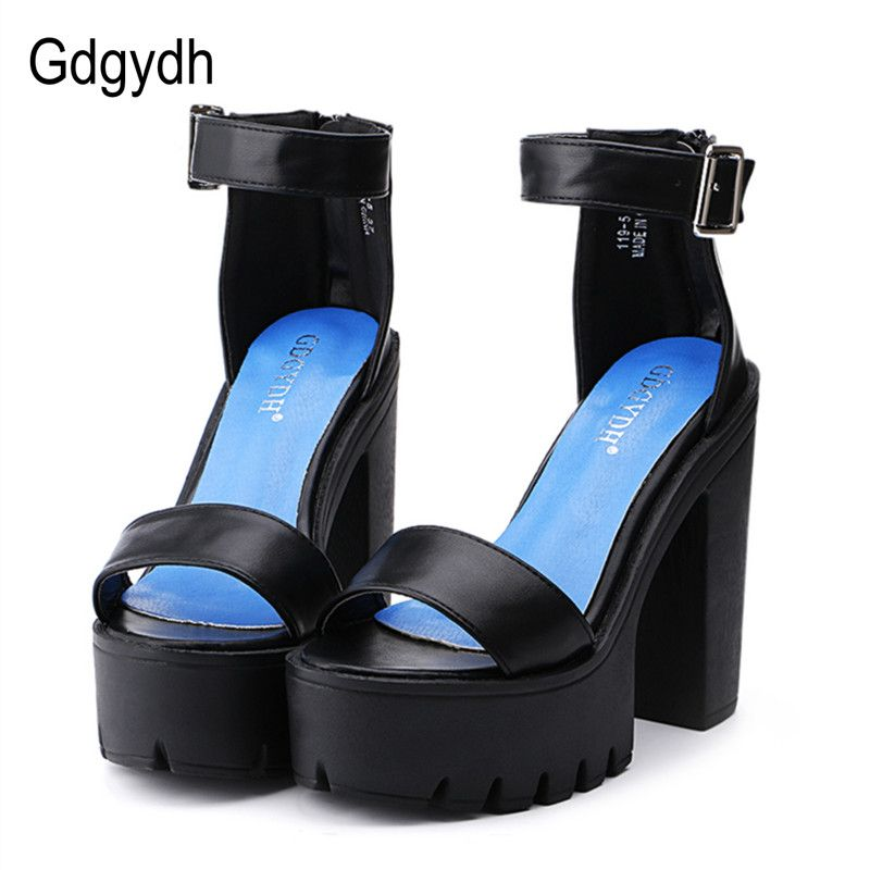 Gdgydh Drop Shipping White Summer Sandal Shoes for Women 2018 New <font><b>Arrival</b></font> Thick Heels Sandals Platform Casual Russian Shoes