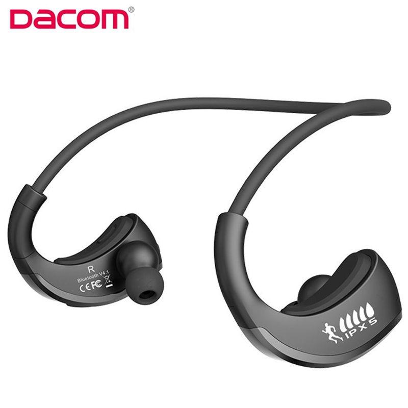 DACOM Armor G06 Bluetooth Headset IPX5 Waterproof Wireless Earphone Sports Running Earpiece with Mic for Smartphone iphone