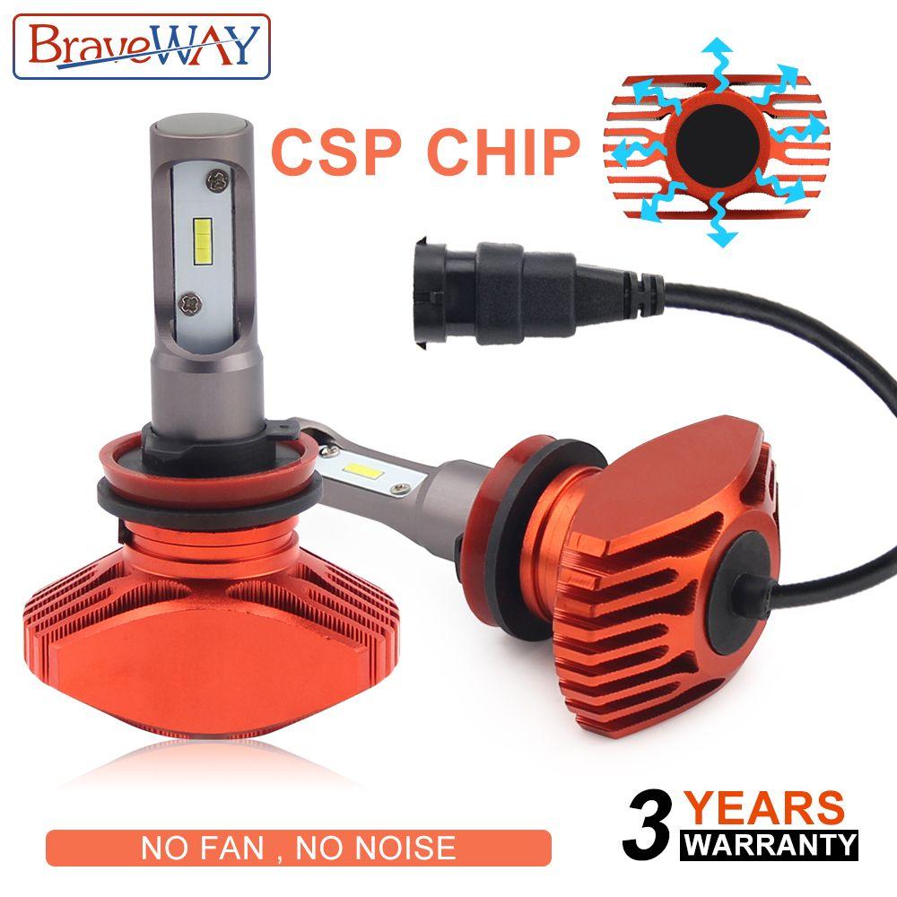 Braveway CSP Super Led Light Bulbs H4 H7 H11 Headlight Led Car Bulb 9005 9006 HB3 HB4 Led Light H7 Auto Lamp H4 Headlamp for Car