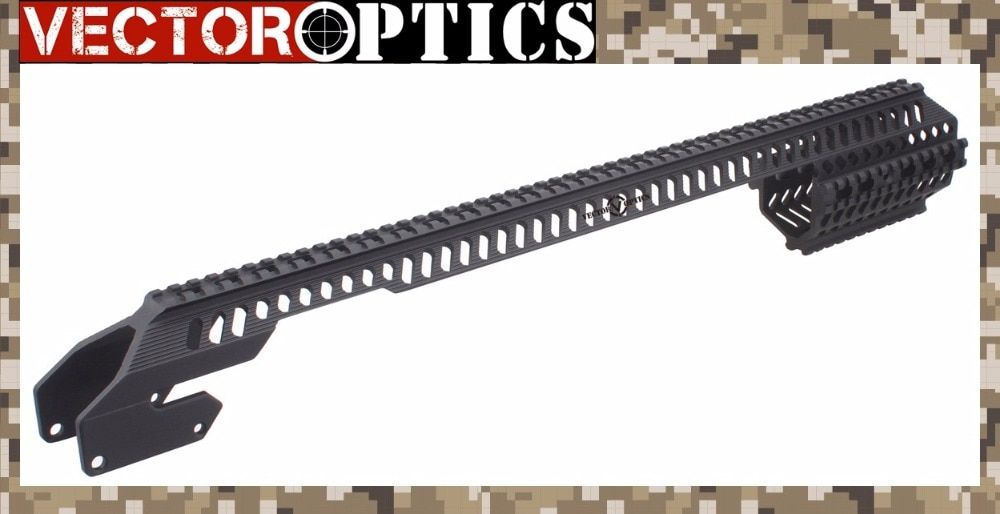 Vector Optics Tactical Shotgun Handschutz Quad Rail für 12 Gauge Remington 870 RM870 R870/R1100 Volle Länge Matte Schwarz