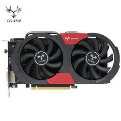 Coloré GTX 1050Ti NVIDIA Carte Graphique GeForce iGame GTX1050Ti GPU 4 GB GDDR5 128bit PCI-E X16 3.0 Carte De Jeu Vidéo de bureau