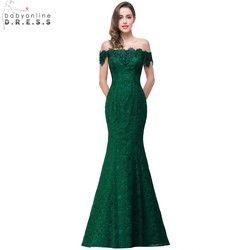 Pas cher Prix Élégant Cristal Rouge Perlé Bleu Royal Dentelle Sirène longues Robes De Soirée 2017 Prom Party Robe Robe De Soirée Longue