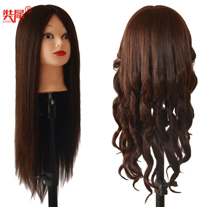 80%Real Brown Hair Mannequin Sale Dummy Maniqui mannequin head hairstyles Training Head hair styling mannequins manikin manequin
