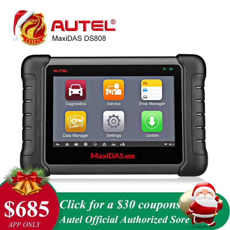 Autel MaxiDAS DS808 Diagnostic Tool Remote WIFI OBD2 Scanner Car Scan Tool Key Programming Diagnostic Scanner Automotive Tool