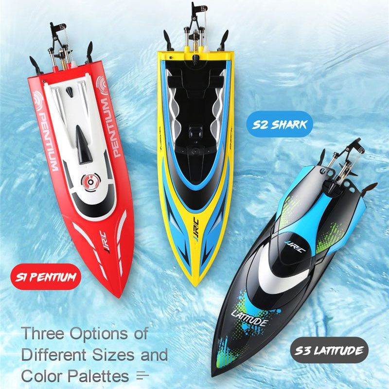 New JJRC S1 Pentium / S2 Shark / S3 Latitude 2.4GHz 2CH 25KM/h High Speed Mini Racing RC Boat RTR Remote Control Toys