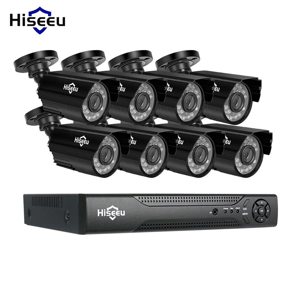 Hiseeu 8CH CCTV System kit AHD 1080 P IR Gewehrkugel CCTV video Überwachung Home Security Indoor/Outdoor Wetterfeste CCTV kameras