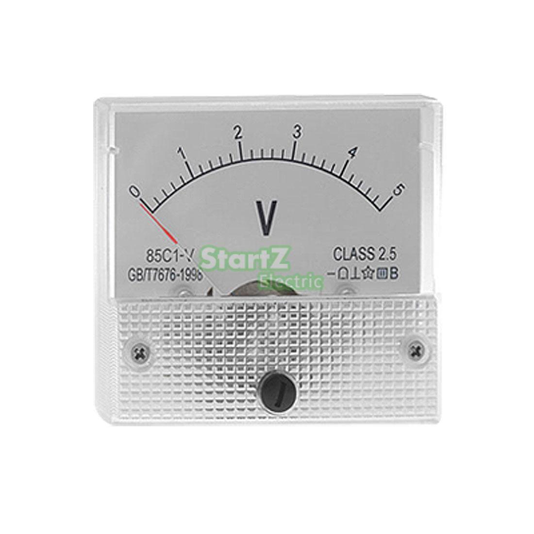 DC Analog Meter Panel 5 V Strom Spannung Amperemeter 85C1 0-5 V Gauge