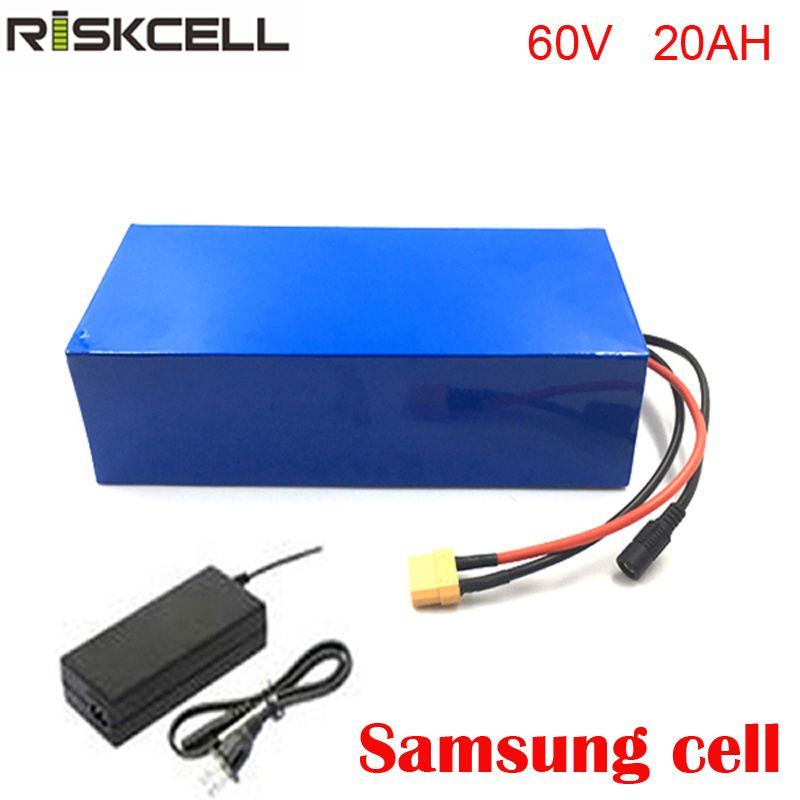 Tiefe zyklus batterie 60 v 20ah roller batterie 18650 lithium-ion batterie mit BMS schutz und ladegerät Für Samsung zelle