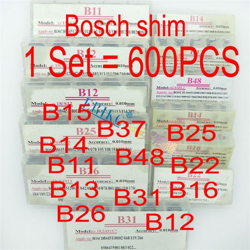 ERIKC Injector Adjust Shims (1 Set=600PCS) B11 B12 B13 B14 B16 B22 B25 B26 B31 B48 B15 Diesel Gasket Kit Adjustment Washer