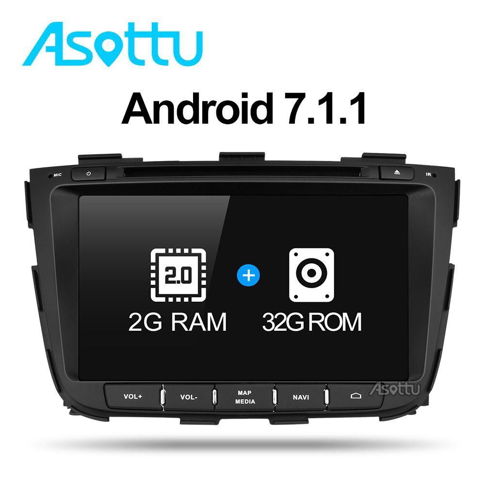 Asottu Z13SLT8060 Android 7.1 car gps for kia Sorento 2013 2014 dvd car dvd gps player 2 din car stereo player gps naviigation