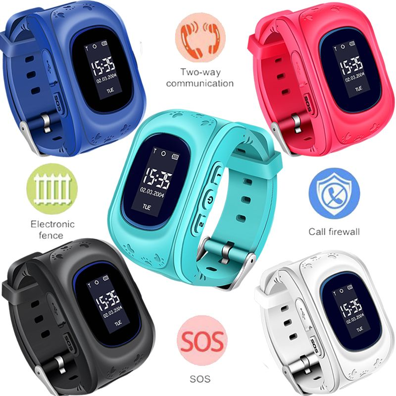 Child watch Anti Lost OLED Child LPS Tracker SOS Smart Monitoring Positioning Phone Kids Baby Watch Compatible IOS & Android