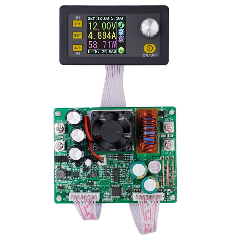 DPS5015 Power Supply Module Buck Voltage Converter Constant Voltage Current Step-Down Programmable LCD Voltmeter 15A 12%OFF