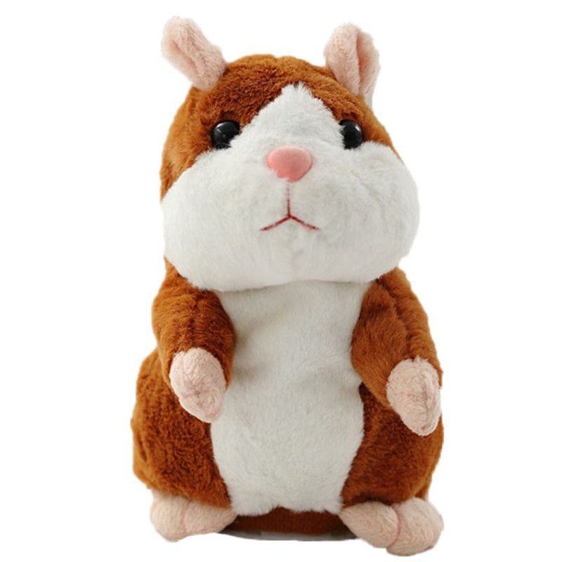15 cm Parler Hamster Souris Animal En Peluche Jouet Apprendre À Parler Enregistrement Électrique Hamster Éducatifs Enfants En Peluche Jouets Cadeau WJ494