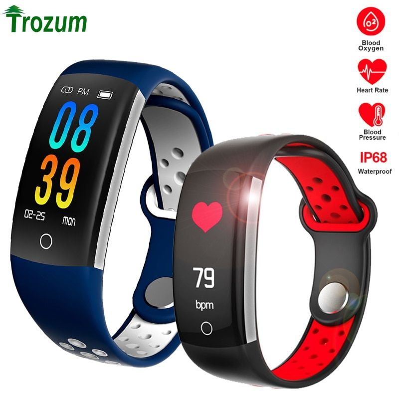 Smart Bracelet Q6 Fitness Tracker Smartband HR Fitness Band Sleep Tracker Waterproof IP68 Activity Tracker watch for Android IOS