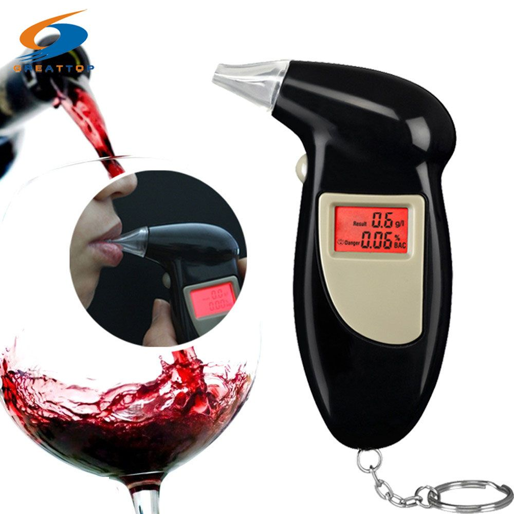 Livraison Gratuite 5 porte-parole Porte-Clé Alcool Testeur Numérique Alcootest Alcool Testeur Analyser (0.19% BAC Max)