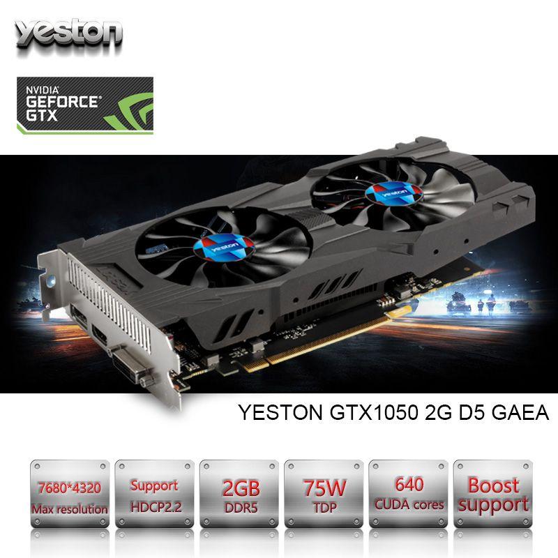 Yeston GeForce GTX 1050 GPU 2 GB GDDR5 128 bit Gaming Desktop-computer PC unterstützung Video Graphics Karten PCI-E X16 3,0