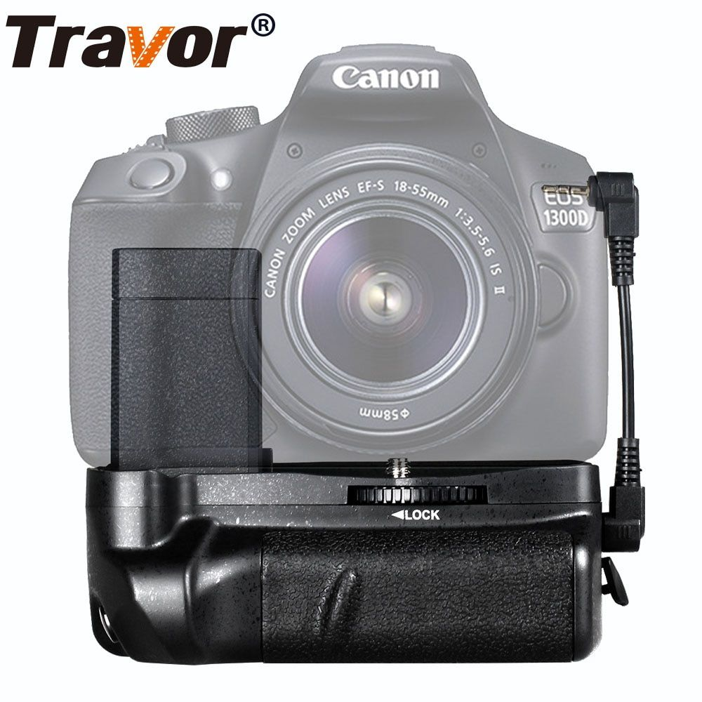 Travor batterie support de prise en main pour canon 1100d 1200d 1300d rebelle T3 T5 T6 EOS Kiss X50 DSLR appareil photo travail avec batterie de LP-E10