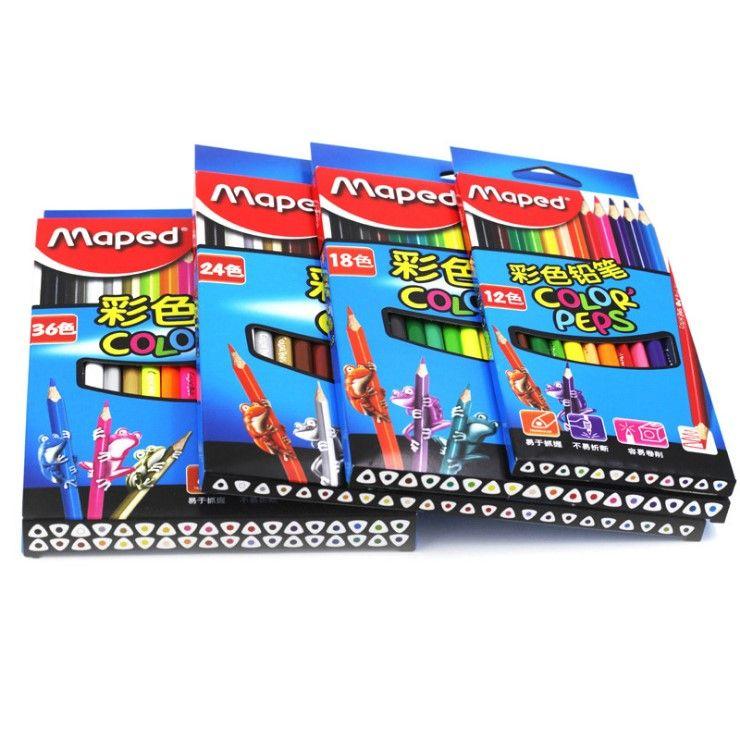 Maped DIY граффити Цветные карандаши 12/24/36/48 Цвета живопись Цвет карандаш Детская школа подарок Симпатичные карандашный рисунок для детей