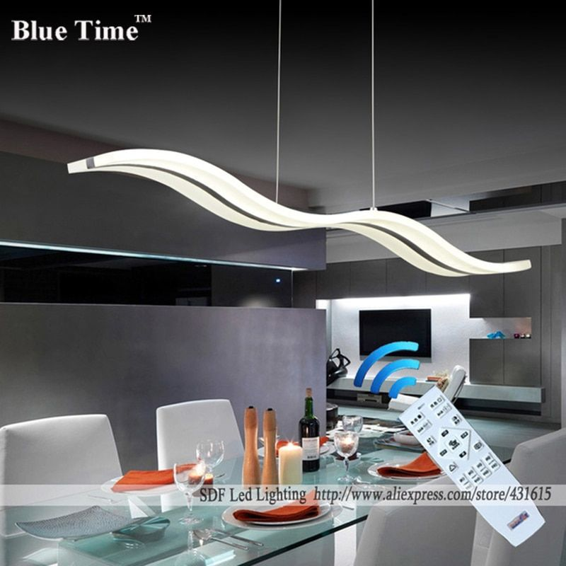 Wow NEW <font><b>Dimmable</b></font> Modern LED Chandeliers for dinning room bedroom studyroom chandelier lights 110V 220V lampadario with control