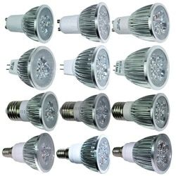 Ultra Terang 9 W 12 W 15 W GU10 MR16 E27 E14 LED Bulb 85-265 V Dimmable LED lampu Sorot Warm/NATURAL/Dingin Putih Lampu 110 V 220 V DC 12 V