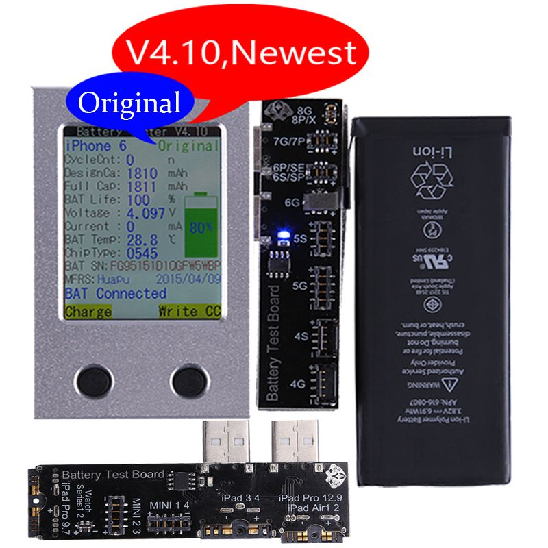 Newest Apple iPhone Battery Tester For iPhone X 8 8P 7 7P 6 6P 6S 6SP 5 5S 4 4S Battery Checker a Key Clear Cycle
