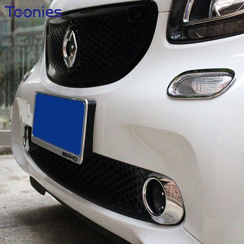 ABS Plating Smart Door Handle Decoration Covers Car Styling Accessories Auto Exterior Rim Door Grill Sticker Car Lamp Decorative