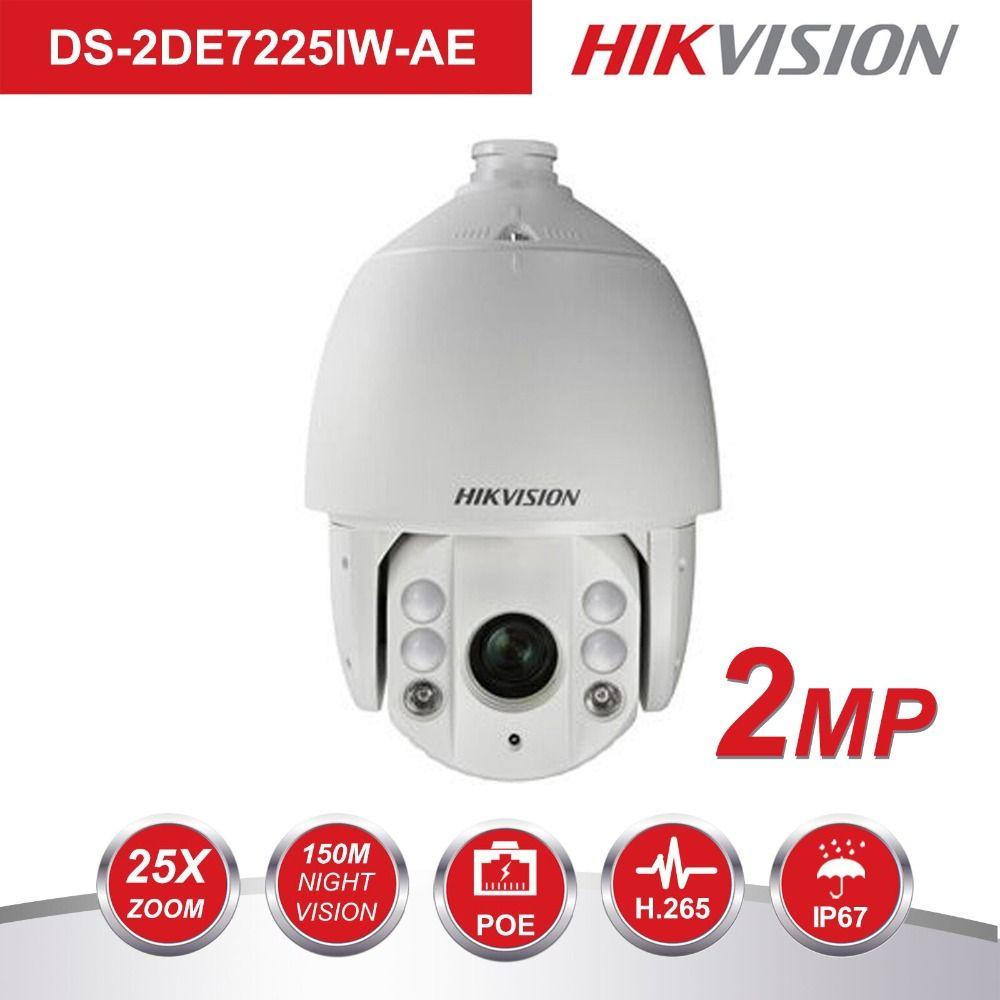 Hikvision PTZ IP Kamera Outdoor DS-2DE7225IW-AE 2 Megapixel 25X Optische Zoom IR Speed Dome Kamera H.265 + Auto Tracking Unterstützung